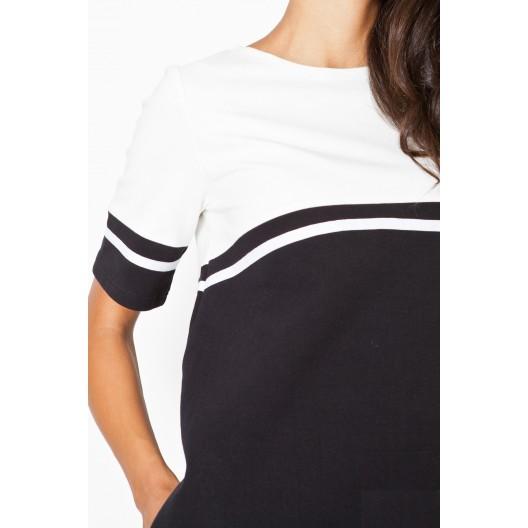 Športové dámske šaty čierno biele