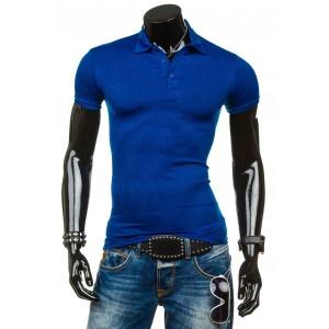 Pánske modré polokošele s krátkym rukávom