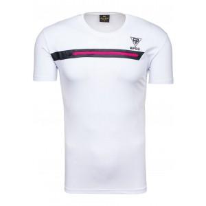 Sexi tričko pre pánov v bielej farbe so zipsom