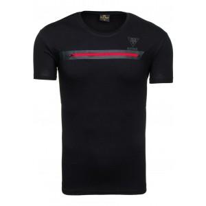 Tričko pre pánov čiernej farby s ružovým zipsom cez prsia