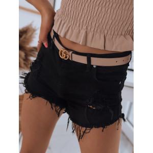 Sexy dámske čierne rifľové šortky