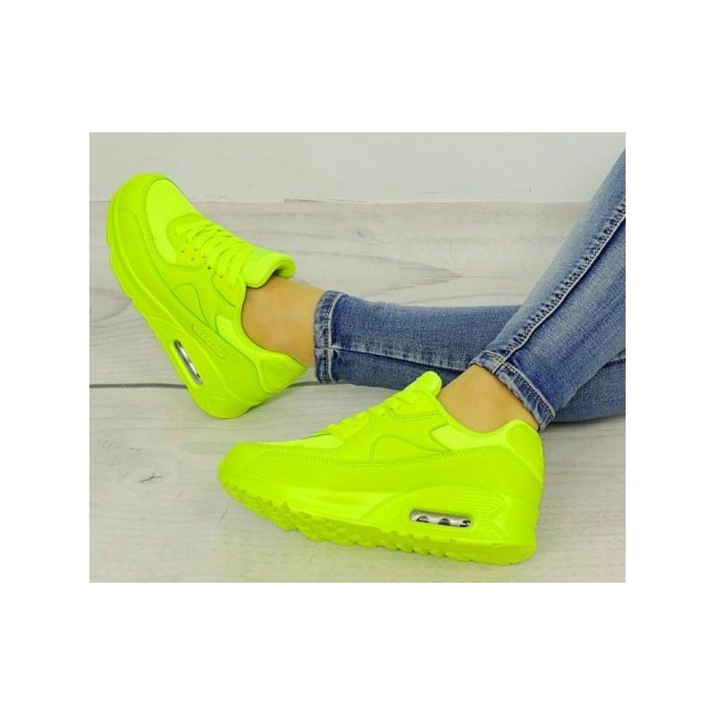 be6a98690e Dámske neónové topánky na voľný čas v zelenej farbe - fashionday.eu