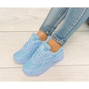 Dámske topánky na voľný čas v modrej farbe