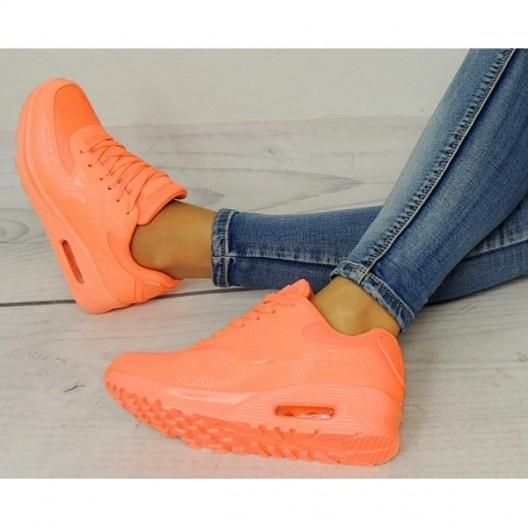 AIR botasky pre dámy v oranžovej farbe