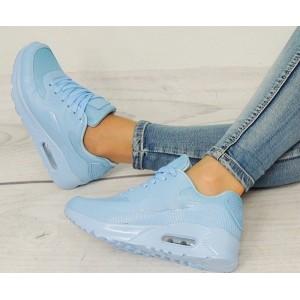 Dámske topánky AIR na voľný čas v modrej farbe