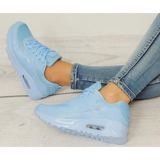 Dámske AIR topánky na voľný čas modrej farby