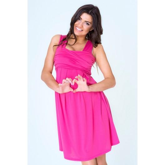 Trendy tehotenské šaty ružovej farby