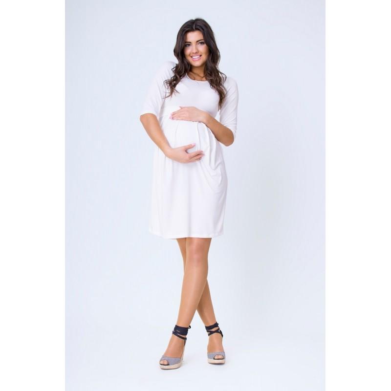 205360254805 Predchádzajúci. Ecru tehotenské šaty po kolená na leto ...