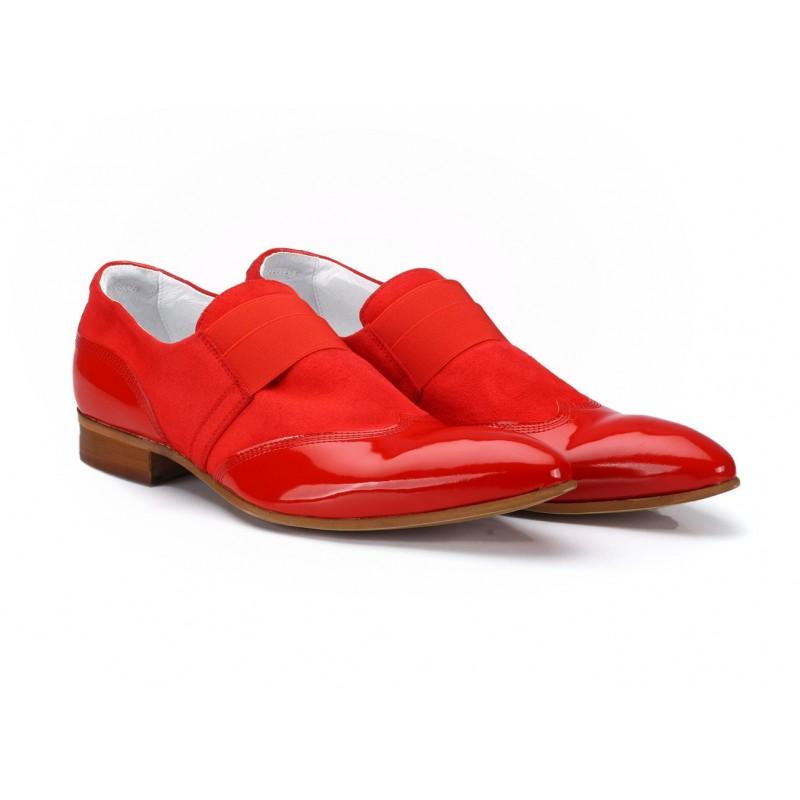 4b98f1b66edad Červené pánske kožené topánky COMODO E SANO - fashionday.eu