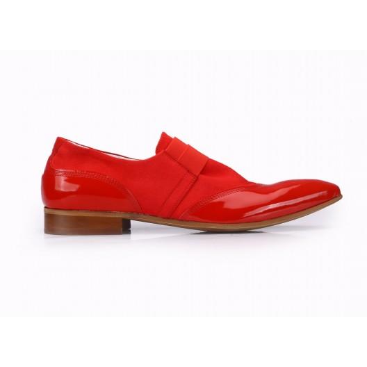 Červené pánske kožené topánky COMODO E SANO