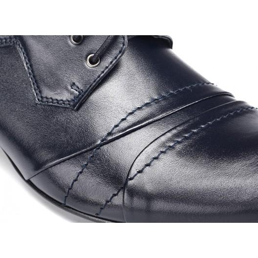 Spoločenské tmavomodré topánky pre pánov COMODO E SANO