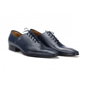 Pánske spoločenské topánky tmavomodrej farby COMODO E SANO