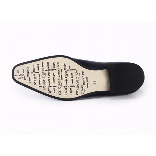 Pánske slávnostné topánky čiernej farby COMODO E SANO