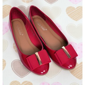 Dámske balerínky červenej farby