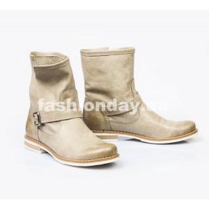 Dámske kožené topánky cappuccino DT004