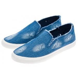 Modrá pánska vychádzková obuv