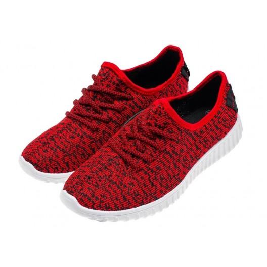 Červeno čierne pánske športové topánky