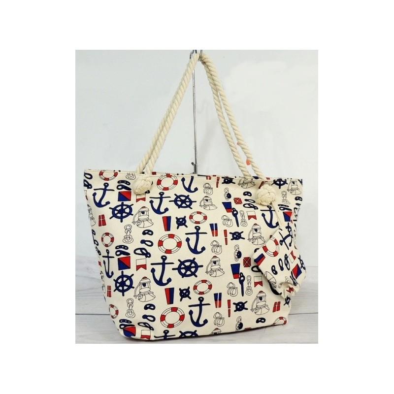 8f570f26ee Dámska plážová kabelka s námorníckym motívom - fashionday.eu