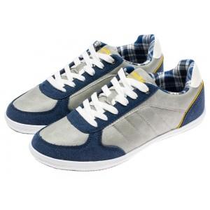 Štýlové pánske tenisky modro sivej farby