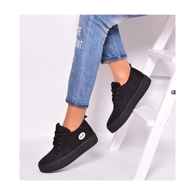 2067d94a89e50 Predchádzajúci. Čierna športová obuv pre dámy s hrubou podrážkou ...