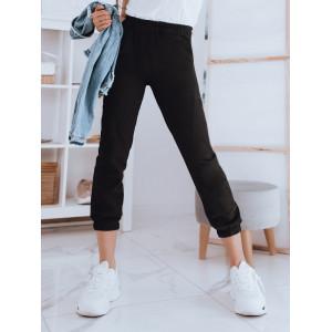 Štýlové dámske čierne jogger nohavice