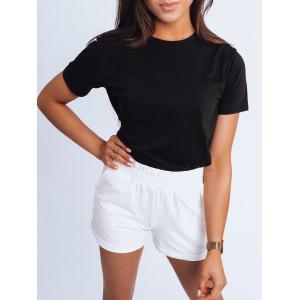 Čierne dámske tričko s krátkym rukávom