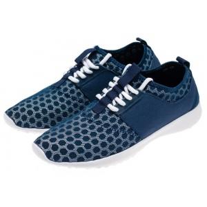 Modrá pánska športová obuv so sieťkou