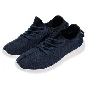 Pánske módne športové topánky v tmavomodrej farbe