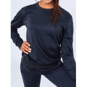 Trendy dámska tepláková mikina basic v módnej navy blue farbe