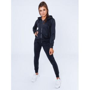 Športová dámska tmavo modrá joggingová tepláková súúrava