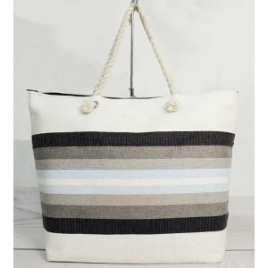 Dámska trendy taška na pláž v bielej farbe