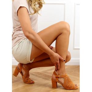 Hnedé dámske sandále s otvorenou špičkou