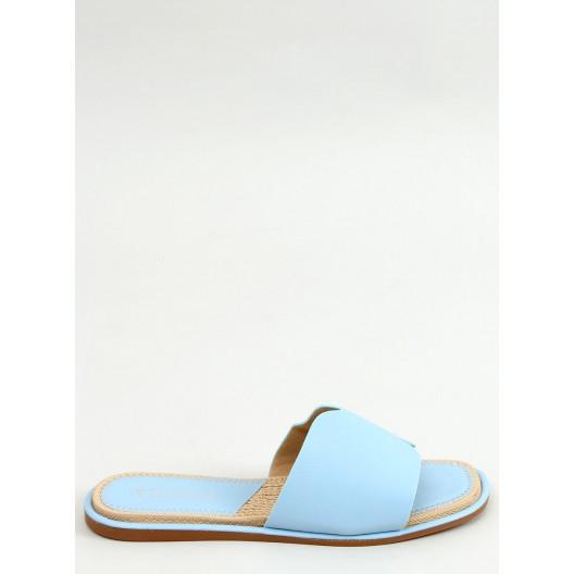 Štýlové dámske modré šľapky