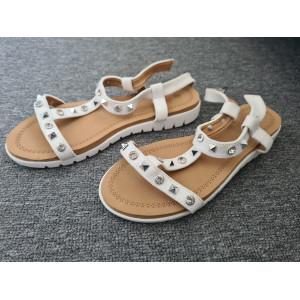 VEĽKOSŤ 38 SKLADOM Dámske sandále na leto bielej farby
