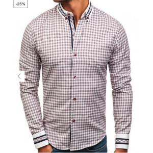 VEĽKOSŤ M SKLADOM Pánska košeľa s károvaným motívom