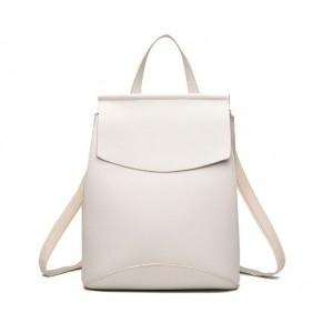 Jednoduchý elegantný dámsky ruksak biely