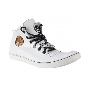 VEĽKOSŤ 40 SKLADOM Pánske kožené športové topánky biele