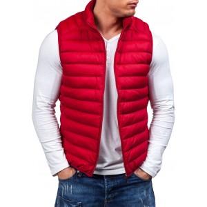 Červená pánska vesta bez rukávov