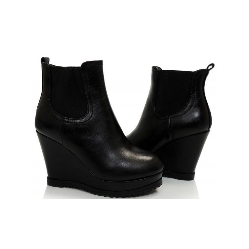 cb9d37e432d6 Predchádzajúci. Dámske kotníkové topánky čierne jarné ...