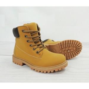 Dámske worker topánky svetlo hnedej farby na zimu
