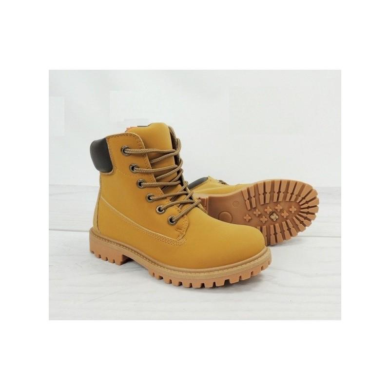 7eb82eba88 Dámske worker topánky svetlo hnedej farby na zimu - fashionday.eu