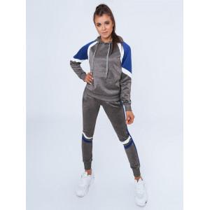 Športová dámska sivo modrá tepláková joggingová súprava