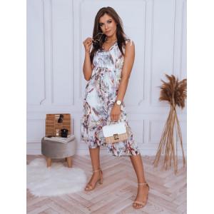 Vzdušné dámske midi šaty voľného strihu