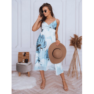 Krásne dámske modré šaty voľného strihu