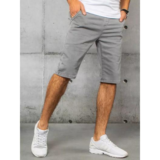 Letné pánske svetlo sivé rifľové kraťasy po kolená