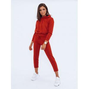Kvalitná dámska červená dámska tepláková súprava s kapucňou kolekcia classic