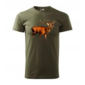 MILITAR VEĽKOSŤ XS Originálne pánske bavlnené tričko pre vášnivého poľovníka