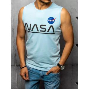 Letné pánske svetlo modré tričko s nápisom NASA