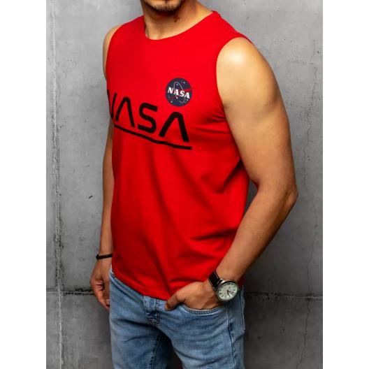Červené pánske letné tričko bez rukávov