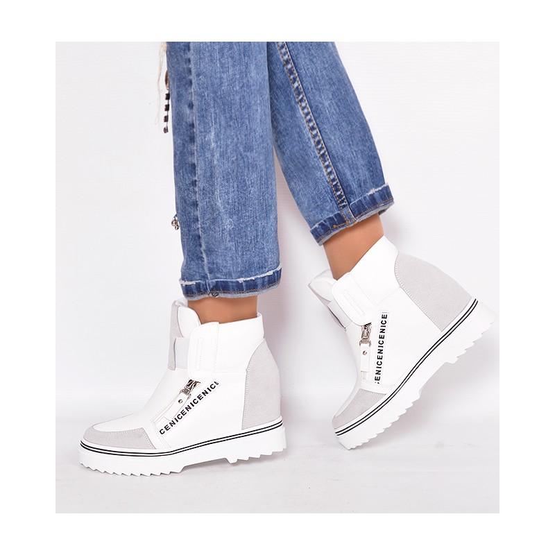 63b024ef7f Členkové dámske prechodné topánky v bielej farbe - fashionday.eu
